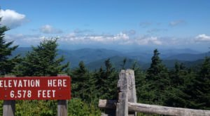 Take An Unforgettable Drive To The Top Of North Carolina's Highest Mountain