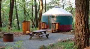 This Northern California Park Has A Yurt Village That's Absolutely To Die For