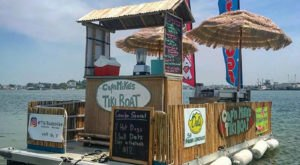 The Floating Tiki Boat Restaurant You Won't Want To Miss On The Rhode Island Waterways