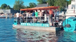 Hop Aboard This Michigan Cycleboat For A One-Of-A-Kind Adventure