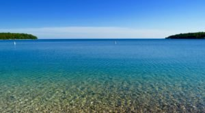 A Secret Tropical Beach In Wisconsin, The Water At Schoolhouse Beach Is A Mesmerizing Blue