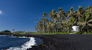 These 10 Black Sand Beaches In Hawaii Will Leave You In Awe