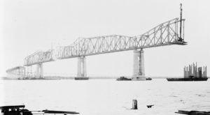 6 Rare Photos Taken During The Huey P. Long Construction That Will Simply Astound You