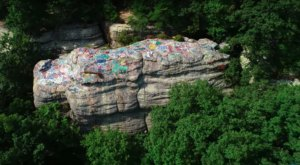 The Hidden Rock In Kentucky That's Now A Massive Piece Of Art