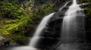 Your Kids Will Love This Gorgeous Waterfall Hike In Maine That's Under A Mile