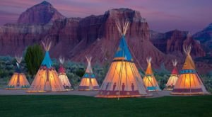 Spend The Night Under A TeePee At This Unique Utah Campground