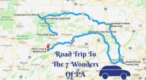 This Scenic Road Trip Takes You To All 7 Wonders Of Pennsylvania