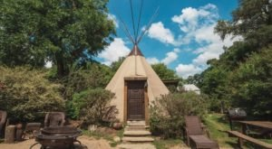 Spend The Night Under A TePee At This Unique Campground Near Austin
