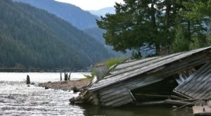This Hidden Montana Lake Shows The Remnants Of A Darker Time