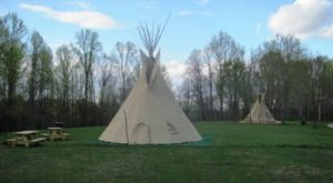 Spend The Night Under A Teepee At This Unique Indiana Campground