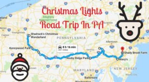 Everyone Should Take This Spectacular Holiday Trail Of Lights In Pennsylvania This Season