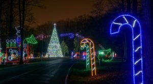 Take A Dreamy Ride Through The Largest Drive-Thru Light Show In Maryland, The Festival Of Lights