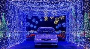 Take A Dreamy Ride Through The Largest Drive-Thru Light Show In Utah, Christmas In Color