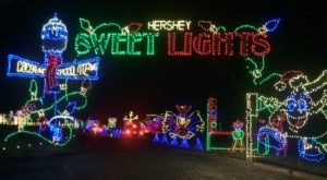 Take A Dreamy Ride Through The Largest Drive-Thru Light Show In Pennsylvania, Hershey Sweet Lights