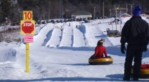 Take This Maine Tube Ride For An Epic Winter Adventure
