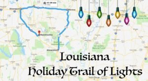 Everyone Should Take This Spectacular Holiday Trail Of Lights Road Trip In Louisiana This Season