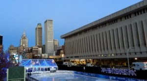 Glide Across The Largest Ice Skating Rink In Oklahoma For An Unforgettable Outdoor Adventure