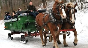 Enjoy A 30-Minute Sleigh Ride Through A Winter Wonderland At Seven Springs Mountain Resort In Pennsylvania
