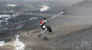 The Longest And Highest Zipline In North America Gives You A Breathtaking View Of New York's Winter Landscape