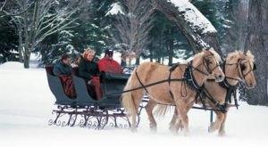 Enjoy A 25-Minute Sleigh Ride Through A Winter Wonderland In White Sulphur Springs In West Virginia
