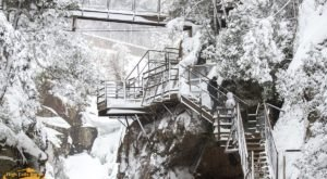 The Private Park In New York's Mountains That's Home To Some Spectacular Frozen Waterfalls