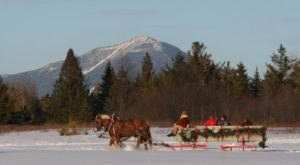 Enjoy A 30-Minute Sleigh Ride Through A Winter Wonderland In Lake Placid In New York