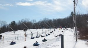 The Country's Most Underrated Snow Tubing Park In Massachusetts Is Ski Ward Ski Area And It's A Blast To Visit