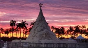This Giant Christmas Tree Made Of Sand Is A Sight To Be Seen