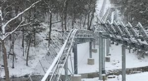 The Winter Coaster In Missouri That Will Take You Through A Snowy Mountain Wonderland
