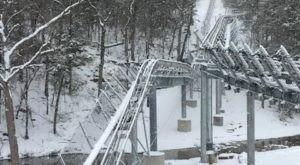 The Winter Coaster In Missouri That Will Take You Through A Snowy Mountain Wonderland