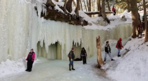 A Trip Inside Michigan's Frozen Caves Is Positively Surreal