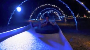 The Ice Tubing Paradise In Southern California That Will Make You Feel Like You're In A Snow Globe