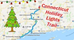 Everyone Should Take This Spectacular Holiday Trail Of Lights In Connecticut This Season