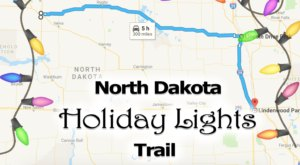 Everyone Should Take This Spectacular Holiday Trail Of Lights In North Dakota This Season