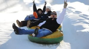 These 7 Snow Tubing Parks In North Carolina Are Perfect For An Unforgettable Winter Outing