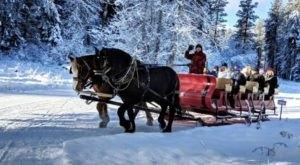 Enjoy A Sleigh Ride Through A Winter Wonderland At Mountain Springs Lodge In Washington