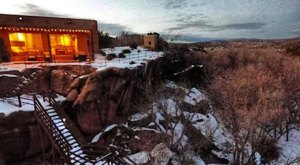 The Clifftop Lodge In New Mexico That's The Perfect Winter Hideaway