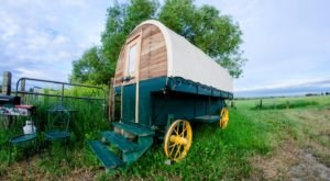 Few People Know You Can Sleep In An Actual Sheephearder's Wagon In Montana
