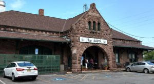 This Historic Kansas Train Depot Is Now A Beautiful Restaurant