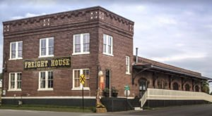 This Historic Alabama Train Depot Is Now A Beautiful Restaurant Right On The Tracks