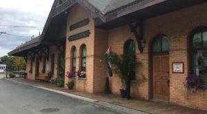 This Historic Vermont Train Depot Is Now A Beautiful Restaurant Right On The Tracks