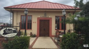 This Historic Texas Train Depot Is Now A Beautiful Restaurant Right On The Tracks
