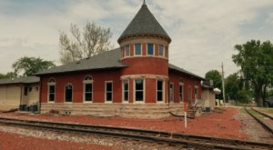 This Historic Iowa Train Depot Is Now A Beautiful Restaurant Right On The Tracks