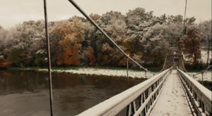 The Little Known Swinging Bridge That Shows Off Some Of The Best Views In Iowa