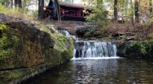 Enjoy Your Own Private Waterfall At This Secluded Cabin Getaway In Pennsylvania