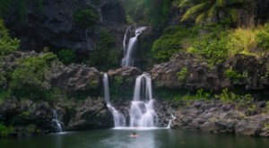 Hawaii's Favorite Waterfall Swimming Hole Is The Very Best Place To Spend A Day