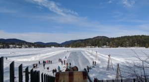 Upstate New York's Only Toboggan Chute Will Take You On An Unforgettable Winter Ride