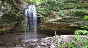 The Hike To This Little-Known Michigan Waterfall Is Short And Sweet
