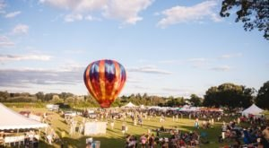 The Sky Fills With A Rainbow Of Balloons At This Massachusetts Music Festival