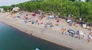 This One Campground Near Pittsburgh Has A Sandy Beach For Plenty Of Fun In The Sun